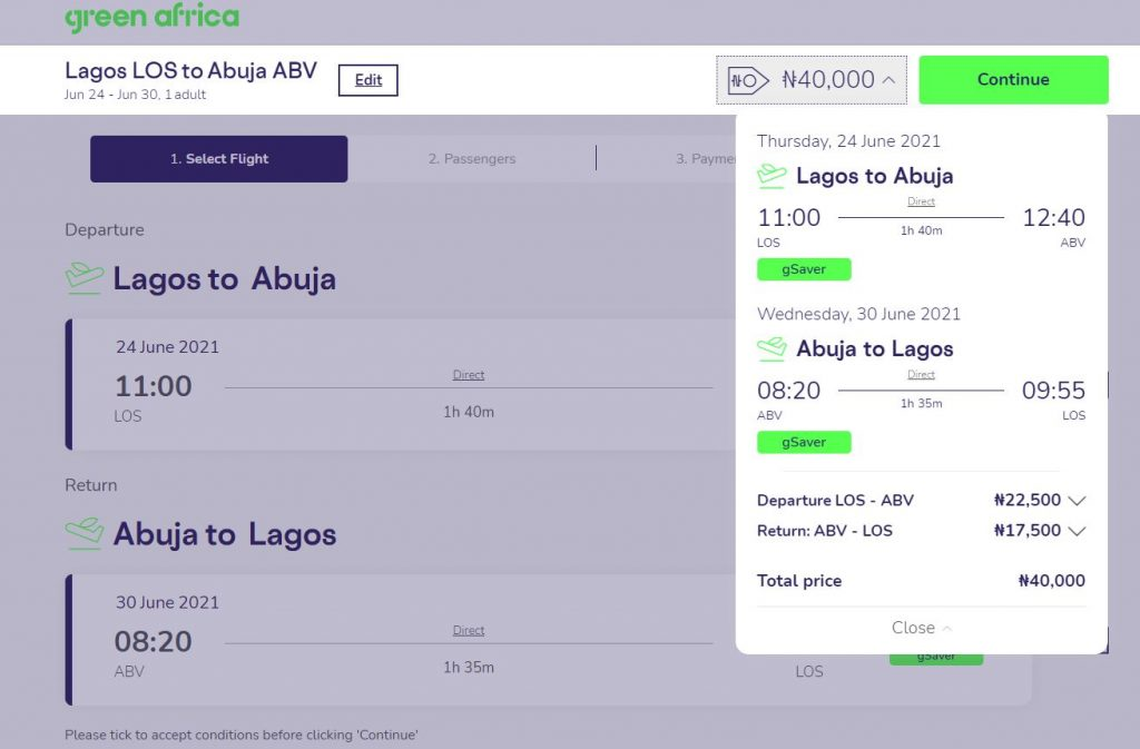 cheapest flight from lagos to abuja